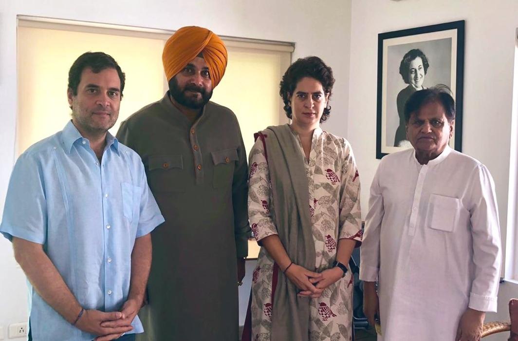 Rahul Gandhi and Navjot Singh