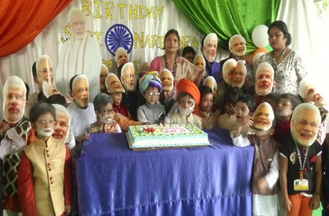 Narendra Modi Birthday celebration in school