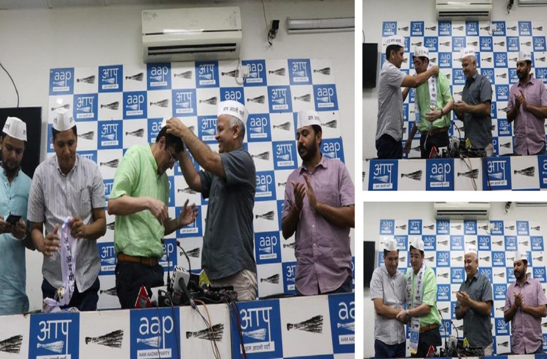 Ajay kumar joins aap