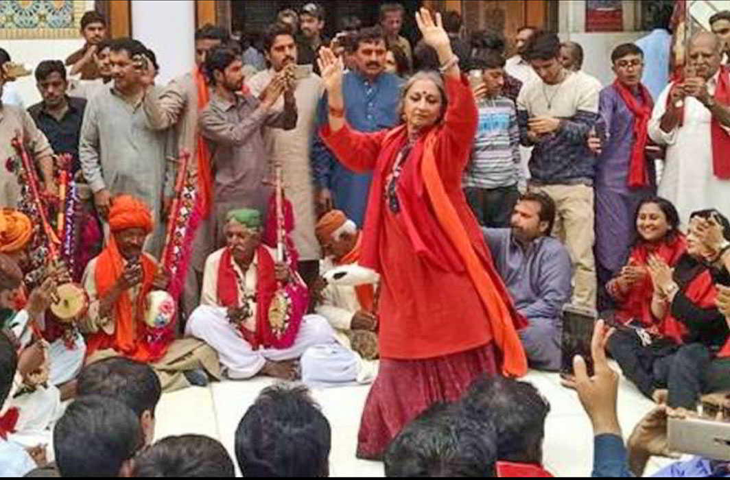 RESISTANCE: Dancer-feminist Sheema Kermani performs dhamaal at the shrine on February 19, three days after the attack; image courtesy YouTube