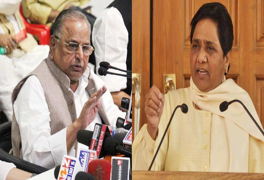 Demonetization has forced two sworn enemies—SP chief Mulayam Singh Yadav and BSP supremo Mayawati—to come on the same page. Photos: UNI