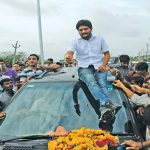 Hardik Patel being welcomed by supporters on arrival at his hometown Viramgam, after his release from Lajpore Central Jail in Surat, this year