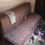 The charred remains of a living room of a house in Dhulagarh after the December 12 riots. Photo: YouTube