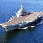 Chinese aircraft carrier, the Liaoning. Photo: www.news.cn