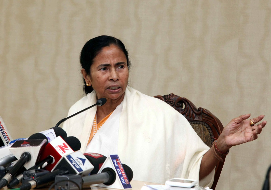 West Bengal chief minister, Mamata Banerjee has been landed with a serious law and order situation. Photo: UNI