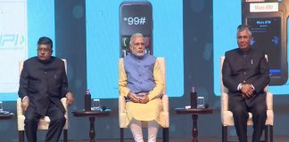 Prime Minister Narendra Modi during the launching of BHIM app un New Delhi. Photo: facebook