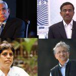 (Clockwise from top) Vinod Rai, Vikram Limaye, Ramachandra Guha and Diana Edulji who will now run BCCI