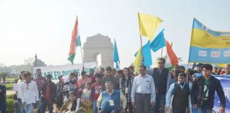 Differently-abled people celebrating World Disability Day at India Gate, New Delhi. Photo: UNI