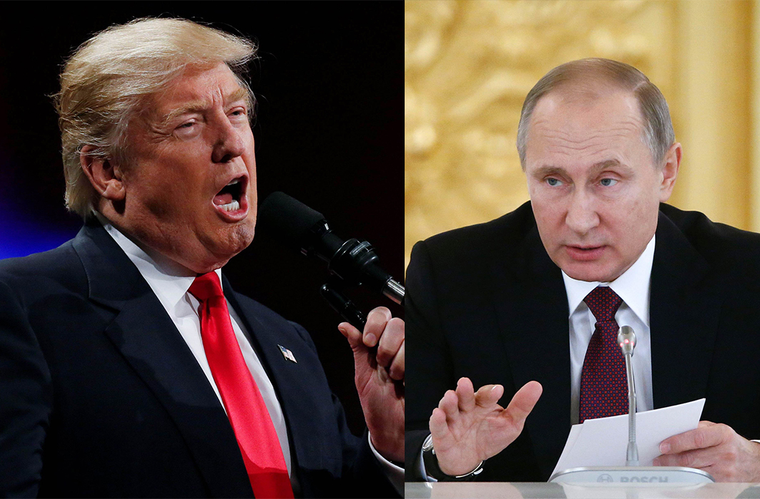 US president-elect Donald Trump and Russian president Vladimir Putin. Photos: UNI