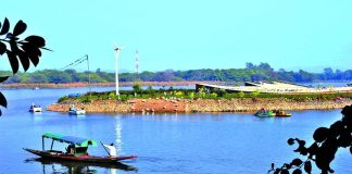 Sukhna Lake inChandigarh is being kept alive by pumping in water.