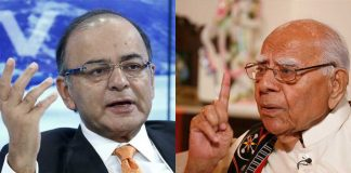 (L-R) Arun Jaitley (photo; UNI); Ram Jethmalani (Photo: Anil Shakya)