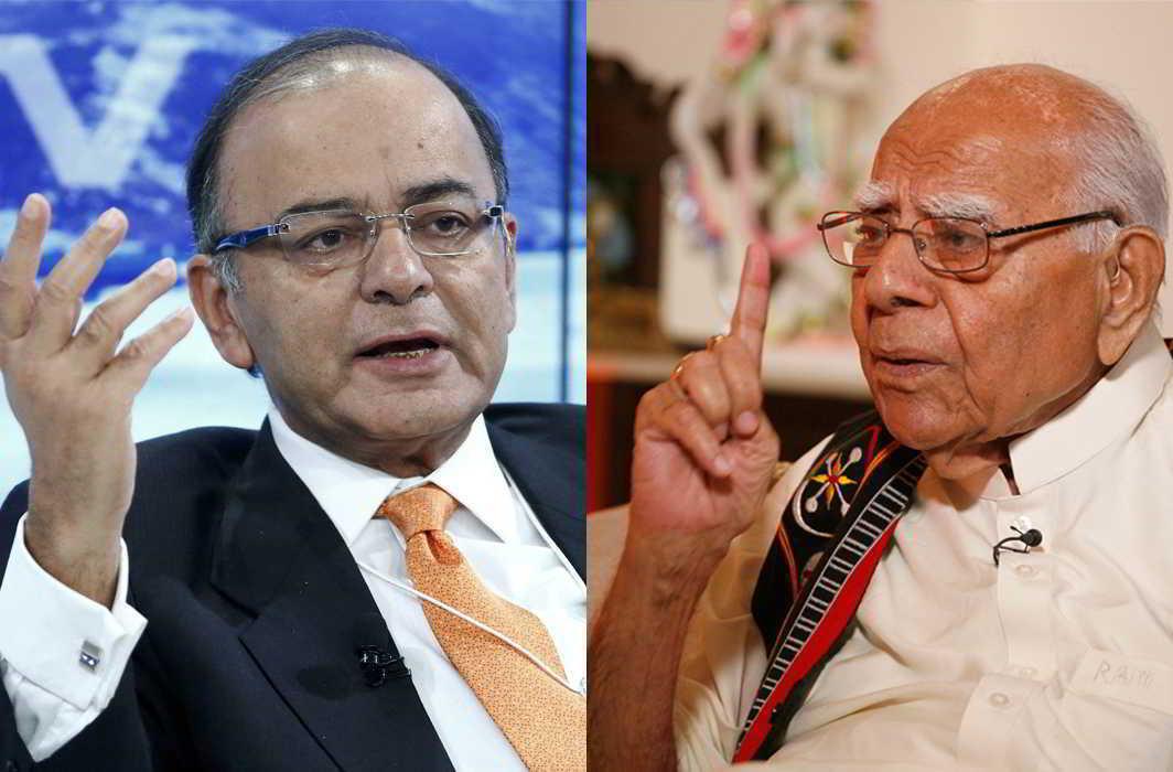 (L-R) Arun Jaitley (photo; UNI); Ram Jethmalani (Photo: Anil Shakya)