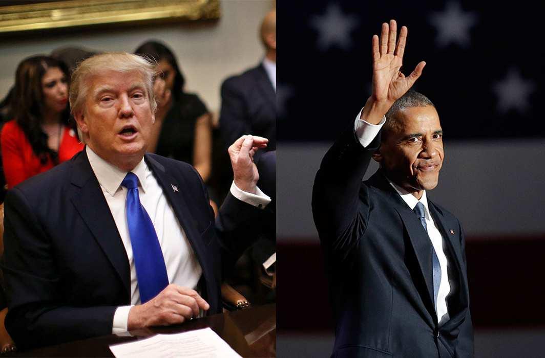 Donald Trump and Barrack Obama. Photos: UNI
