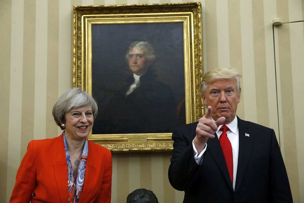 Trump with May in the White House. Photo: UNI