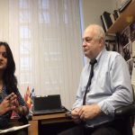 Professor Steve Jarding during an interview session with APN News