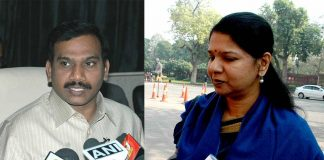 (L-R) Former Union Telecom Minister A Raja (Photo: PIB); DMK MP Kanimozhi (photo: UNI)