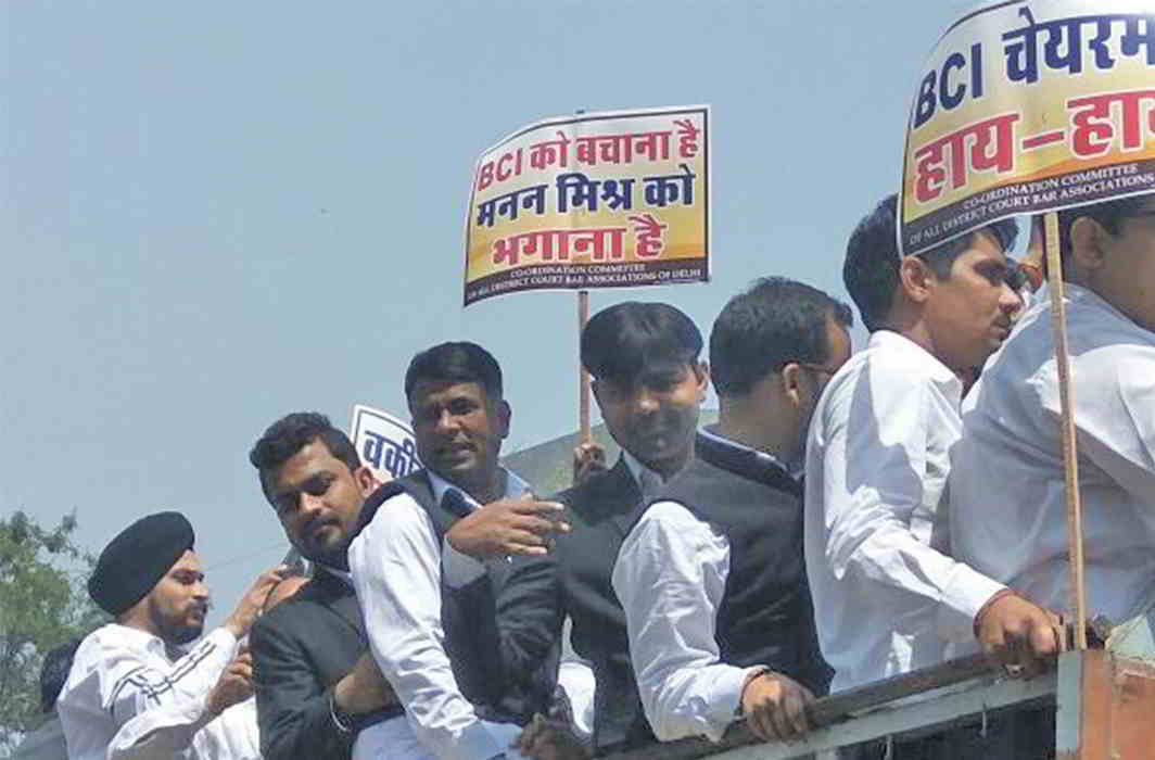 Lawyers in Delhi struck work recently over the Law Commission's recommendations