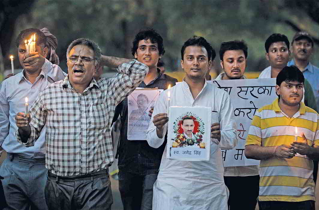 The murder of journalist Jagendra Singh in UP highlighted how vulnerable scribes are when they expose corrupt politicians, bureaucrats and businessmen. Photo: globaljournalist.org