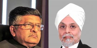 Union Law Minister Ravi Shankar Prasad (Photo: Rajeev Tyagi), CJI JS Khehar
