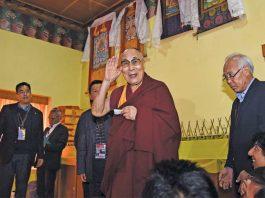 Spiritual leader Dalai Lama during his Tawang visit,photo: UNI