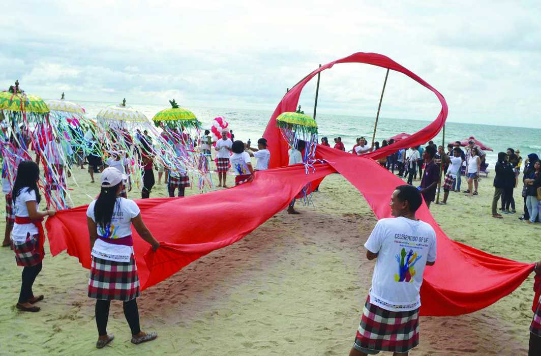 Campaign to mark World Aids Day in Bali. Photo: UNI