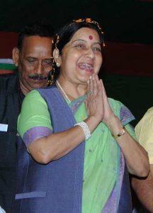 External Affairs Minister Sushma Swaraj. Photo: UNI