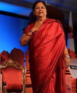 RajasthanChief Minister Vasundhara Raje. Photo: UNI