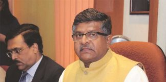Union Law Minister Ravi Shankar Prasad. Photo: UNI