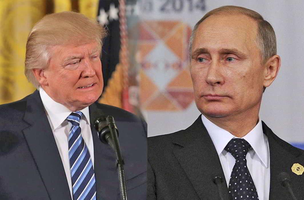 US president Donald Trump, Russian President Vladimir Putin. Photos: UNI