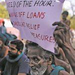 Protesting farmers at Jantar Mantar pleading for loan waivers