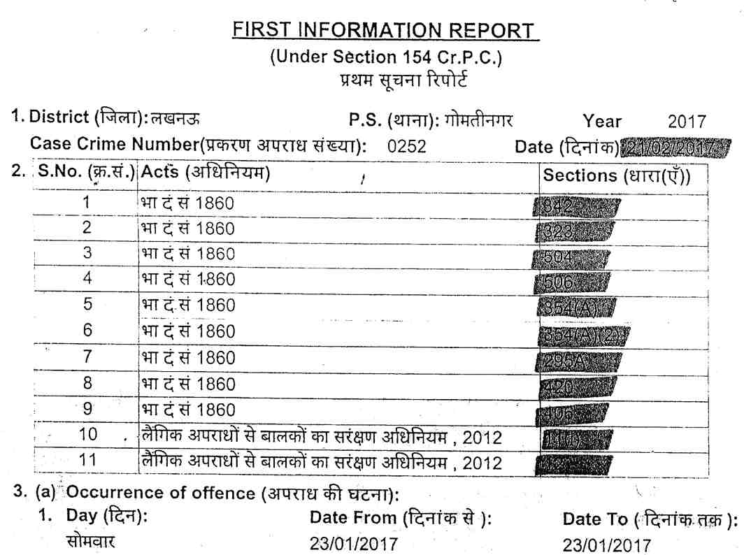 FIR against Nishant Sinha