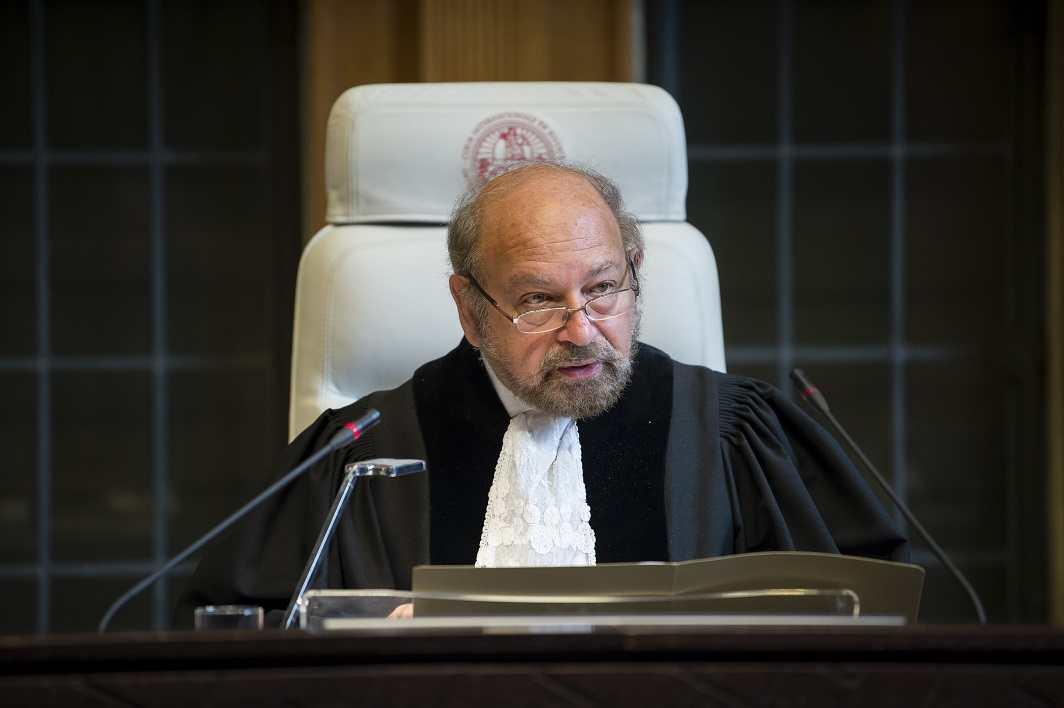 Judge Ronny Abraham, President of the Court. Photo: UN Photo/ICJ-CIJ/Frank van Beek
