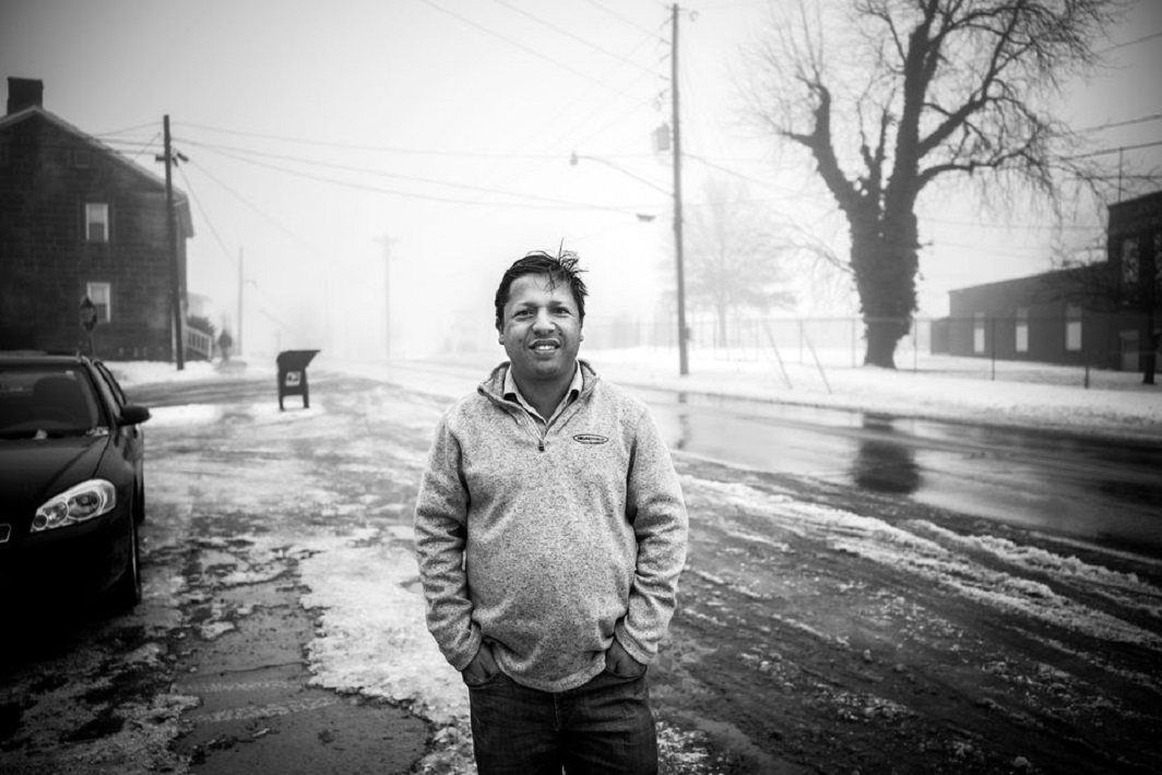 Manorath Khanal, a Bhutanese refugee who works for Case Farms Company as a liaison to employees. The Bhutanese are one of a series of migrant and refugee communities the Company has turned to for labor.