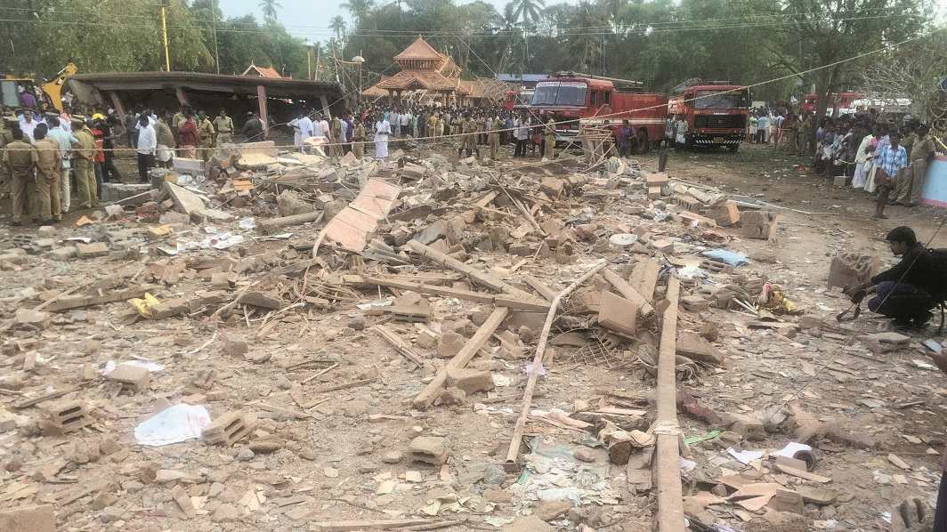 The government had cited the Puttingal Temple tragedy as an instance where TP Senkumar had erred. Photo: UNI
