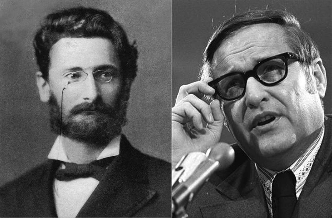 J-School graduates are inspired by the likes of Joseph Pulitzer (left) and the legendary Jack Anderson (right)