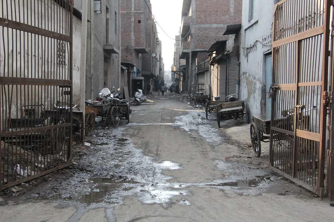 Industrial waste flowing out in a west Delhi area. Photo: Bhavana Gaur