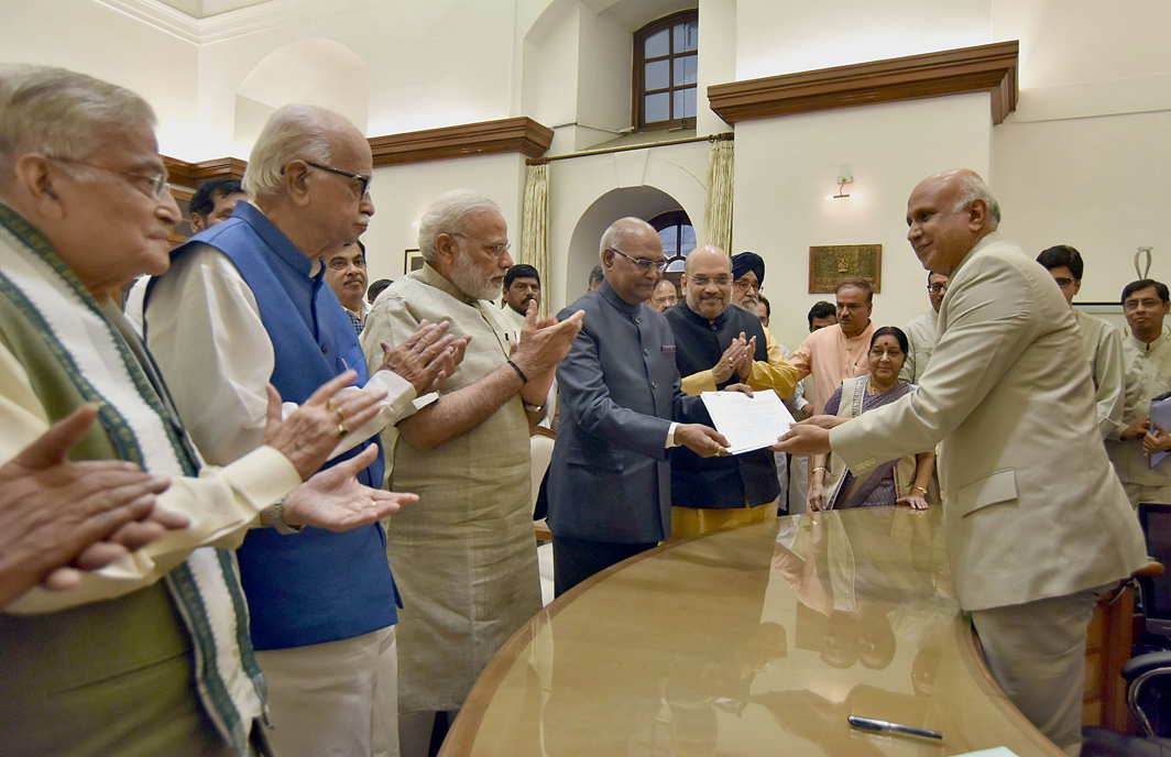 Kovind files nomination for Presidential election