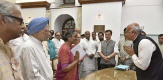 Meira Kumar files nomination papers