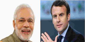 Narendra Modi and Emmanuel Macron
