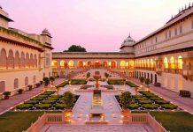 At the centre of the feud is the magnificent Rambagh Palace. Photo: taj.tajhotels.com