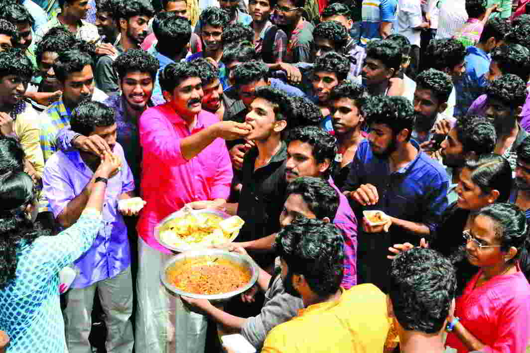 A beef festival organised in the city to protest against a beef ban imposition in 2015. Photo: UNI