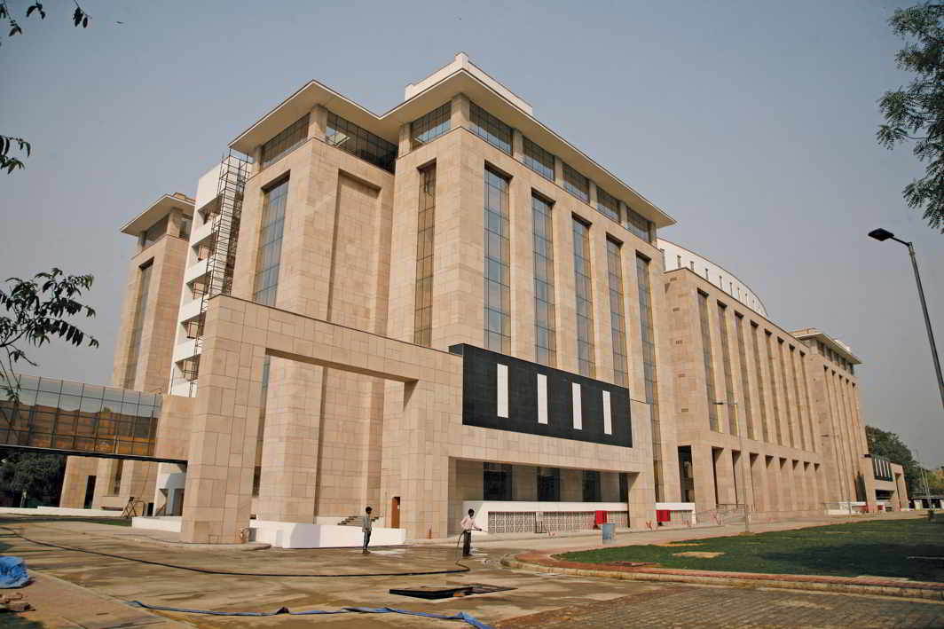 The new court building on Deen Dayal Upadhyay Marg where Patiala house court quarters has been shifted. Photo: Anil Shakya