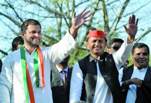 Rahul Gandhi's decisions, like the one to tie up with Akhilesh Yadav, have failed to yield positive results. Photo: UNI