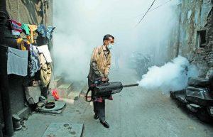 Fogging during a dengue outbreak in Old Delhi. Photo: Anil Shakya