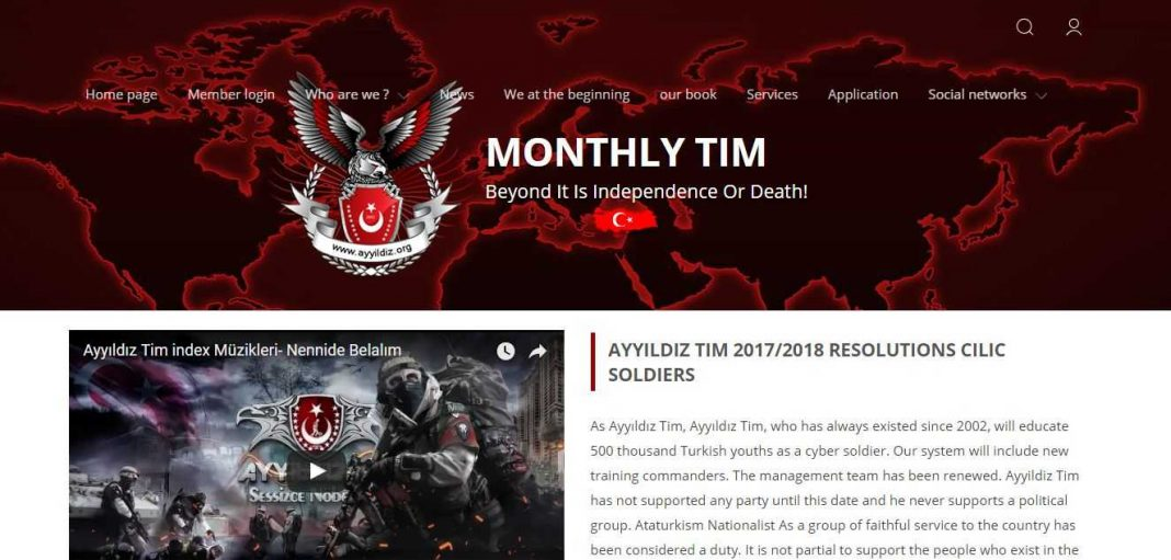 A garb of the news website which was hacked by the Ataturkism Nationalists