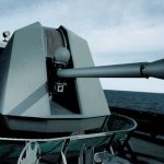 The BAE Systems' 57MM Mk110 (internationally known as the Bofors' 57Mk3) gun. India had bought a version of this gun. Picture: courtesy BAE Systems