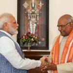 President designate Ram Nath Kovind meeting the Union Home Minister, Rajnath Singh on June 20, 2017. Photo: PIB