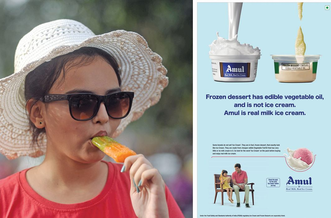 The Amul brand enjoys tremendous goodwill. It can therefore take on the competition through provocative advertising. Photo: UNI