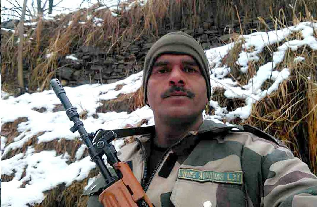 A file picture of BSF jawan Tej Bahadur Yadav