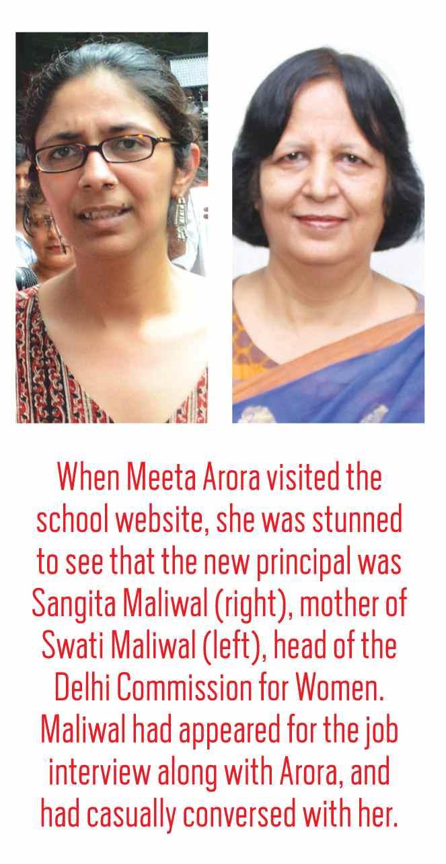Sangita maliwal(Right); Swati Maliwal(left)